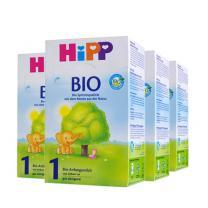 德国原装 HiPP Bio有机奶粉1段0~6M600g*4盒