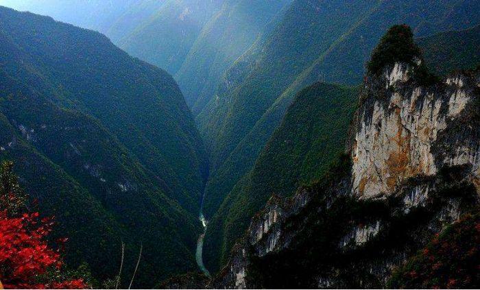 兰英大峡谷风光
