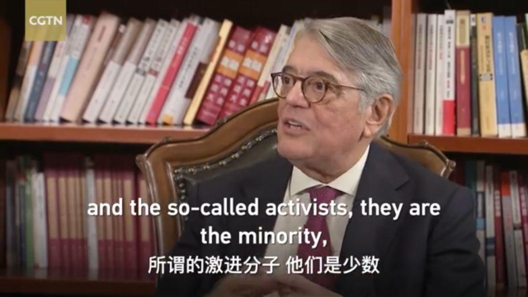 见证澳门回归的葡萄牙前外长:少数人正在用暴力毁掉香港的未来