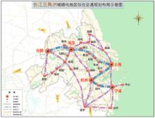 长江三角洲城镇化地区综合交通规划