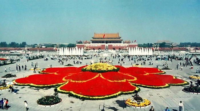 1990天安门广场国庆花坛