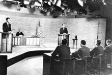 1960年与尼克松展开电视辩论