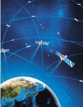 北斗卫星定位系统示意图