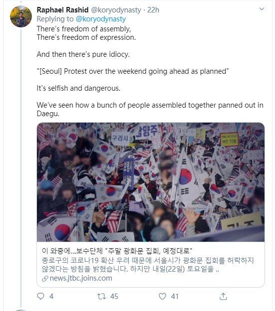 韩国人今天这场面,把外国人都吓坏了