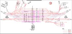 彰武站平面布置图