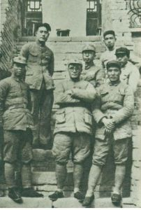 1937年春,李达、刘伯承、张浩、宋任穷在甘肃省镇原县