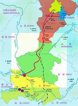 南水北调中段路线图