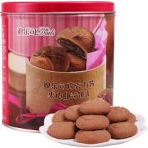 【京东超市】马来西亚进口 迪乐司(Delos)巧克力酱夹心曲奇饼干300g