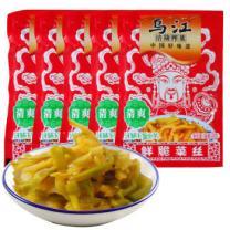 【京东超市】乌江 涪陵榨菜 鲜脆菜丝88g*5袋