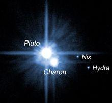 冥王星和已知的三颗卫星