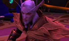 《魔兽世界》8.1血精灵领主造型改变变 身白狼杰洛特