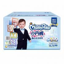 妈咪宝贝 MamyPoko 小内裤男宝XL76片(12-17kg)