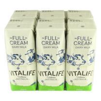澳大利亚VITALIFE维纯进口牛奶 无任何添加剂 小盒全脂纯牛奶 250ml*24盒
