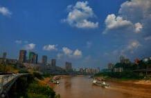 嘉陵江重庆市北滨路段