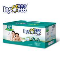 婴舒宝 婴儿尿不湿纸尿裤绿钻棉柔特惠 L码 96片