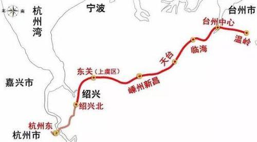 杭绍台城际铁路站点设置图