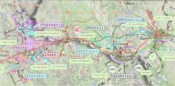 新建赤峰至京沈高铁连接线平面图