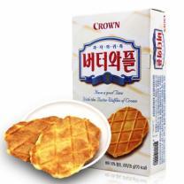 韩国Crown可瑞安黄油薄脆饼干 可瑞安黄油饼干135g*3盒装