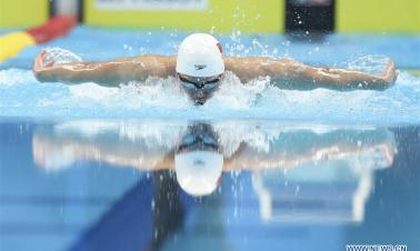 Li Zhuhao wins bronze medal during Men's 200m Butterfly Final in 18th Asian Games