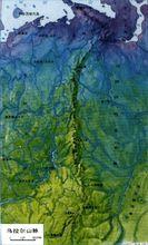 乌拉尔山脉的地形图