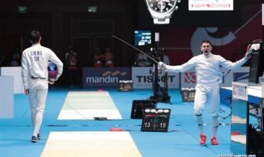 In pics: Men's Epee Individual Round of 16 at 18th Asian Games